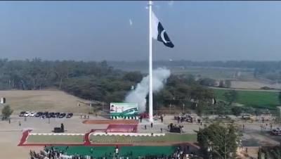پاک بھارت سرحد پر گنڈا سنگھ کے مقام پر 200فٹ بلند پرچم لہرادیا گیا:آئی ایس پی آر