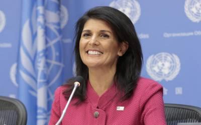 امریکہ نے اقوام متحدہ کے بجٹ میں285ملین ڈالر کی کمی کردی، عالمی ادارے کو شاہ خرچیاں نہیں کرنے دیں گے : نکی ہیلی