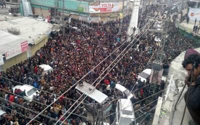 گلگت ،بلتستان میں ٹیکس نفاذ کے خلاف عوامی احتجاج ، لانگ مارچ کا فیصلہ مئوخر