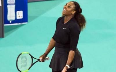 سیرینا شادی کے بعد پہلا نمائشی ٹینس میچ ہار گئیں