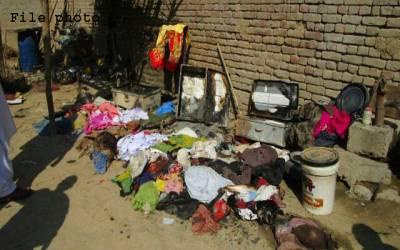 گھوٹکی،آتشزدگی واقعہ میں2 بچے جھلس کر جاں بحق،گھریلو سامان جل کر خاکستر