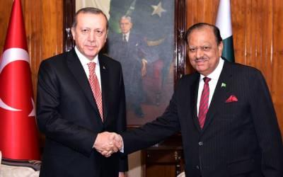 صدرممنون حسین کوترک صدرطیب ارودان کا فون !پاکستان اور ترکی ہر طرح کی صورتحال میں شانہ بشانہ کھڑے ہیں