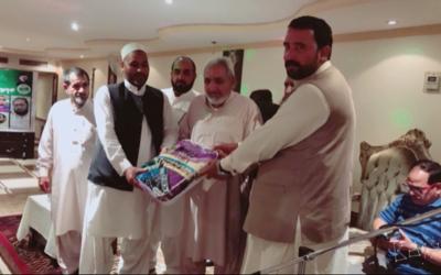 اوورسیز پاکستانی فورم جدہ کی جانب سے میاں عنایت الرحمان اور شاہد چوہدری کے اعزاز میں تقریب