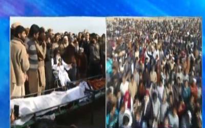 قصور، پولیس فائرنگ سے جاں بحق ہونے والے 2 افراد کی نماز جنازہ ادا کر دی گئی