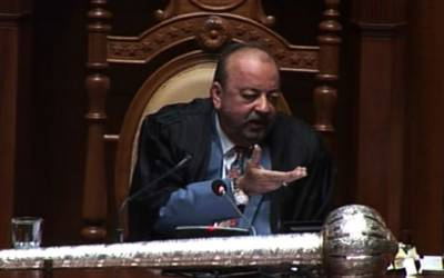 سنا ہے آپ عدالت سے دیوار پھلانگ کر بھاگے: سپیکر سندھ اسمبلی کا رئوف صدیقی سے مکالمہ، دلچسپ مکالمے پر قہقہے