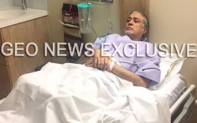 اسحاق ڈار کی گردن اور کمر میں تکلیف، ہسپتال منتقل