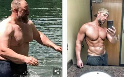 اس بھاری بھرکم آدمی نے صرف 6 ماہ میں 37 کلو وزن کم کر کے اپنا جسم یکسر تبدیل کرلیا، اتنے مسلز کیسے بنالئے؟ جانئے وہ طریقہ جو آپ کو بھی ضرور معلوم ہونا چاہیے