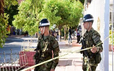 کولمبیا ، پولیس تھانے پر بم حملہ ، 4اہلکار ہلاک ، 17زخمی