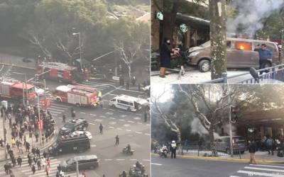چین میں مسافر وین ہجوم پر چڑھ دوڑی ، 18 زخمی