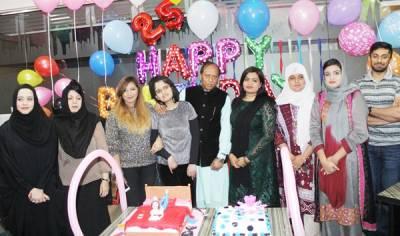 آمنہ اعجاز کو 25 ویں سالگرہ مبارک، سالگرہ دبئی میں منائی گئی