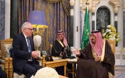 برطانوی کنزرویٹیو پارٹی کے وفد کی سعودی عرب آمد،شاہ سلمان سے ملاقات
