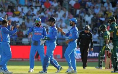 پانچواں ون ڈے ، بھارت نے جنوبی افریقہ کو 73ر نز سے شکست دیدی