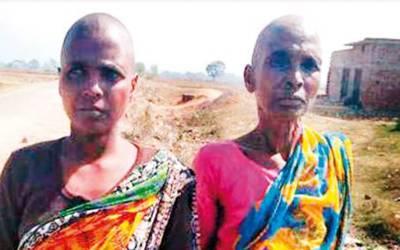 ان دونوں ماں بیٹی کو گھر سے نکال کر بال مونڈ دئیے گئے اور انسانی فضلہ کھانے پر مجبور کردیا گیا کیونکہ گاؤں والے سمجھتے تھے کہ۔۔۔