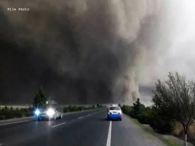 مدینہ منورہ میں گرد وغبار کا طوفان ، حد نگاہ انتہائی متاثر