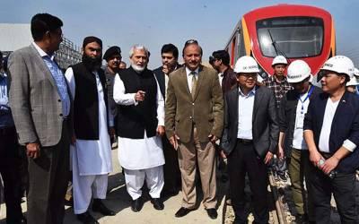لاہور اورنج ٹرین کی کامیاب ٹرائل رن
