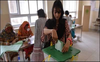 گھوٹکی کے حلقہ پی ایس 7 میں ضمنی انتخاب کےلئے پولنگ جاری