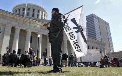 امریکی ریاست اوہائیو میں گن کلچر کے حامیوں کی ریلی،پابندی کی مخالفت