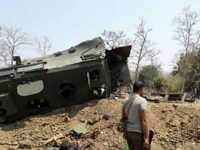 بھارتی ریاست چھتیس گڑھ میں بم دھماکہ، 9 بھارتی فوجی ہلاک