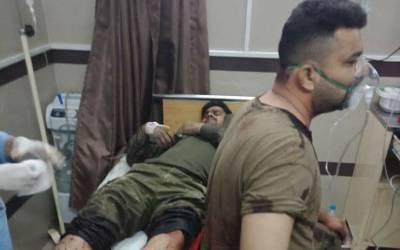 رائے ونڈ دھماکہ، زخمی ہونے والے 14 پولیس اہلکاروں کو ٹی ایچ کیو ہسپتال میں طبی امداد کے لئےمنتقل کیا گیا