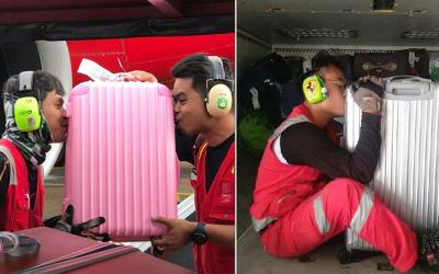 یہ ائیرلائن کے ملازمین مسافروں کے سامان کو اتنی عقیدت سے چوم کیوں رہے ہیں؟ وجہ جان کر آپ بھی ہنس پڑیں گے