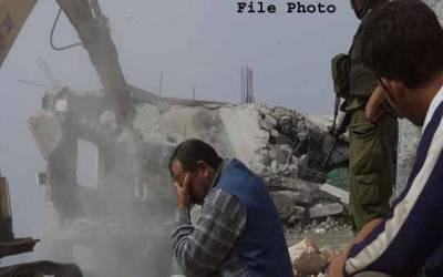 اسرائیلی حکام نے القدس میں فلسطینی گھروں کی مسماری کے نوٹس جاری کردیئے