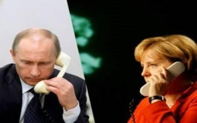 روسی صدر کا جرمن چانسلرکوفون، شام کے خلاف اشتعال انگیزی پر انتباہ