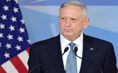امریکی فوج مناسب فوجی آپشنز مہیا کرنے کے لیے تیار ہے: جیمز میٹس