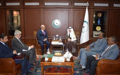 سعودی عرب میں پاکستانی سفیر خان ہشام بن صدیق کی او آئی سی کے سیکرٹری جنرل ڈاکٹر یوسف العثیمین سے ملاقات