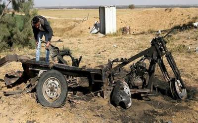 غزہ میں اسرائیلی سرحد کے قریب دھماکا، 4 فلسطینی شہید