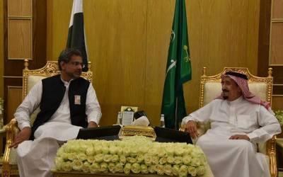 وزیر اعظم شاہد خاقان عباسی کی شاہ سلمان سے ملاقات،دوطرفہ تعلقات پر گفتگو