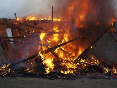 نئی دہلی میں 230روہنگیا پناہ گزینوں کا واحد کیمپ جل کر خاکستر ،ایک شخص زخمی