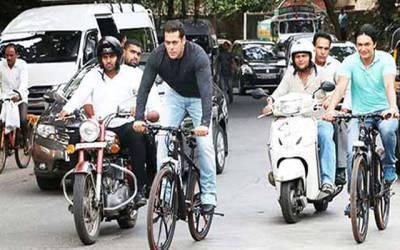 دبنگ خان راجستھان میں سائیکلنگ کرنے نکل پڑے