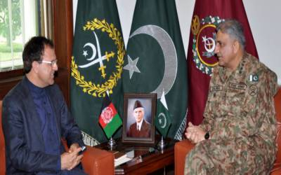 آرمی چیف جنرل قمر جاوید باجوہ سے افغان سفیر کی ملاقات،باہمی تعلقات کی موجودہ صورتحال پرتبادلہ خیال
