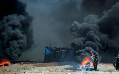 فلسطینی شہید 72،زخمی 34سو ہوگئے : امریکہ نے سلامتی کونسل کو تحقیقات سے روک دیا