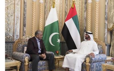 آرمی چیف جنرل قمر جاوید باجوہ متحدہ عرب امارات پہنچ گئے ،شہزادہ شیخ محمد بن زید النہیان سے ملاقات