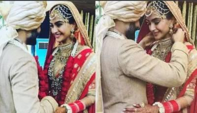 نوبیاہتا اداکارہ سونم کپور نے اپنا منگل سوتر جسم کے ایسے حصے پر پہننا شروع کردیا جہاں کبھی کسی بھارتی لڑکی نے نہ پہنا