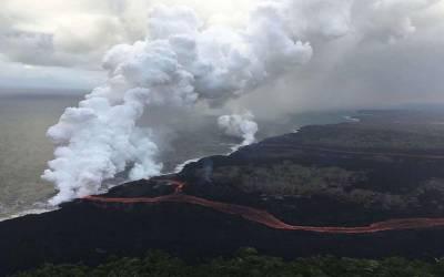 امریکہ،ریاست ہوائی میں آتش فشاں سے لاوے کا مسلسل خطرناک اخراج