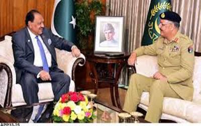 صدر اور چیئرمین جوائنٹ چیف آف سٹاف کی ملاقات ، دفاعی اور سیکیورٹی معاملات پر تبادلہ خیال