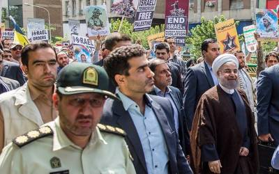 ایران ،فلسطینیوں سے اظہار یکجہتی کے لئے یوم القدس ریلی