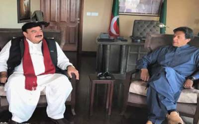 عمران خان سے عوامی مسلم لیگ کے سربراہ شیخ رشیدکی ملاقات