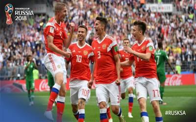 فیفا ورلڈ کپ 2018روس نے سعودی عرب کے خلاف 0-5سے کامیابی حاصل کرلی