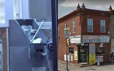 امریکہ، چوروں نے اے ٹی ایم کو دھماکا خیز مواد سے اڑا دیا