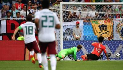 میکسیکو نے جنوبی کوریا کو دو کے مقابلے میں ایک گول سے شکست دے دی