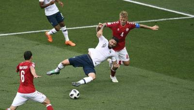 فٹ بال ورلڈ کپ :فرانس اور ڈنمارک کا میچ صفر صفر سے برابر ، 20پنالٹیوں کار یکارڈ قائم