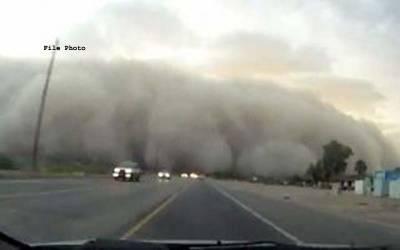 ٹیکساس میں مٹی کے طوفان نے لوگوں کو خوفزدہ کردیا ،ٹریفک کی روانی متاثر ،نظام زندگی درہم برہم