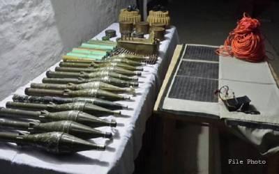 سیکیورٹی فورسزکاجنوبی اورشمالی وزیرستان میں آپریشن، بڑی تعدادمیں اسلحہ برآمد