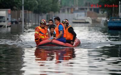 چین،شدید بارشوں سے نظام زندگی بری طرح متاثر