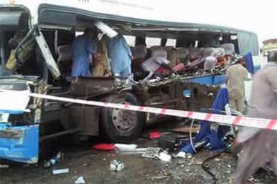 رحیم یار خان، قومی شاہراہ پر بس اور ٹرک میں تصادم،6 مسافرجاں بحق