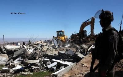 اسرائیلی فوج نے فلسطینیوں کے 4مکان مسمار کر دیئے