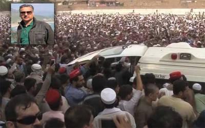 عوامی نیشنل پارٹی کے شہید رہنما ہارون بلور پشاور میں سپرد خاک،نماز جنازہ میں ہزاروں افراد کی شرکت